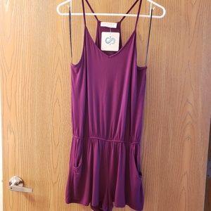 Infinity Raine Dresses - NWT Eggplant Romper - sz S